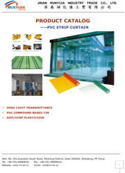 PVC strip curtains catalog top