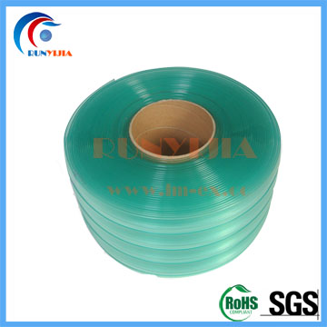 200mm x 2m green double ribbed antistatic pvc strip curtains