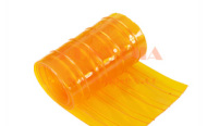 double ribbed anti-insect orange PVC soft curtains